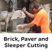Brick, Paver and Sleeper Cutting