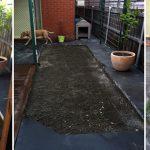 Improving soil that has been under concrete